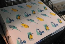 Screen-printed birds